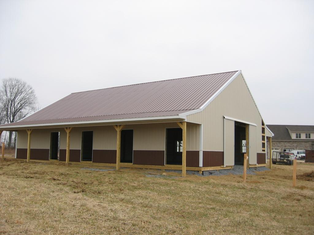 Equestrian horse pole barn gettysburg pa 17325 cha for Horse barn materials