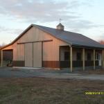 large horse barn